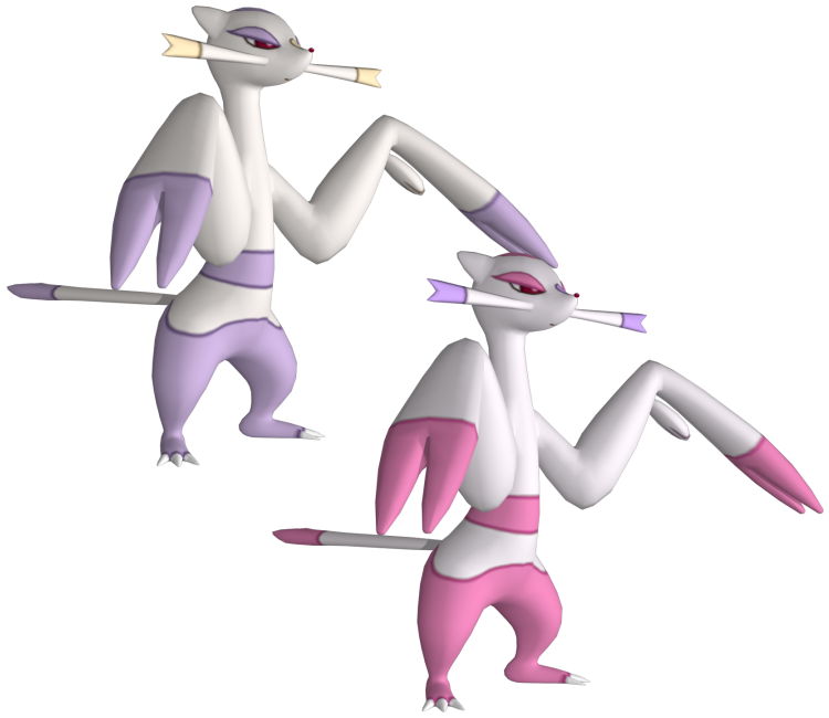 3ds Pokemon X Y 620 Mienshao The Models Resource