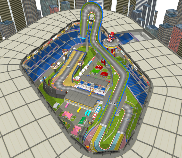 Wii U - Mario Kart 8 - Mario Kart Stadium - The Models Resource