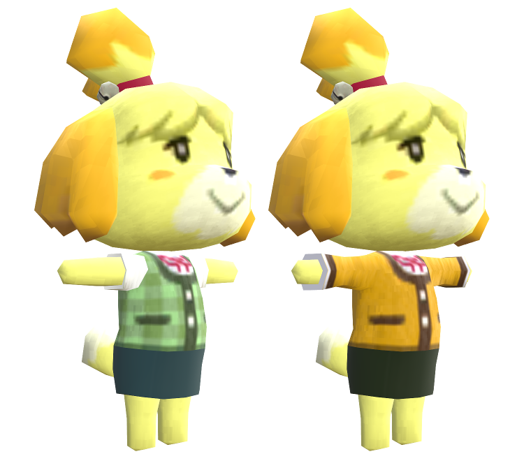 3DS - Animal Crossing: New Leaf - Isabelle - The Models ...