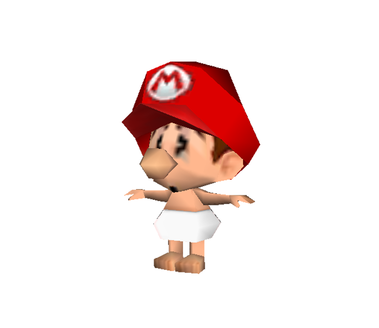 3DS - Yoshi's New Island - Baby Mario (Low-Poly) - The
