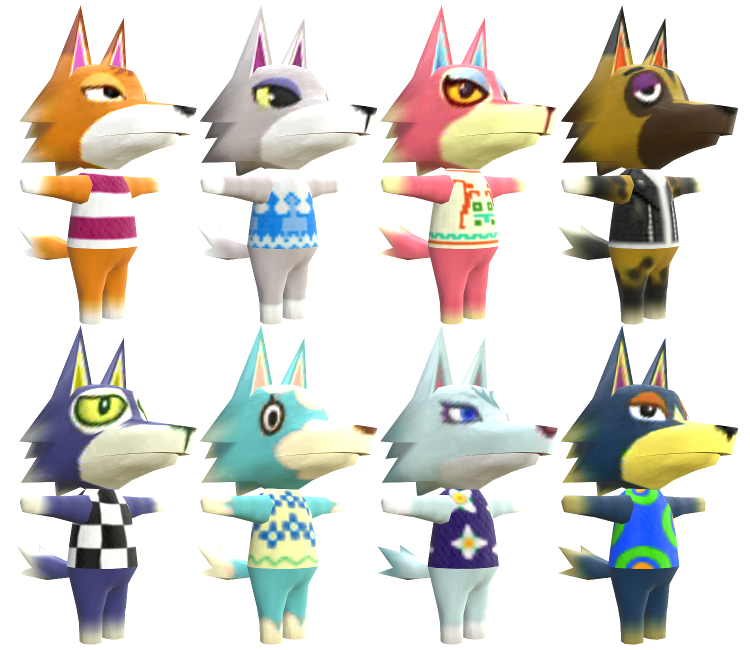 3ds Animal Crossing New Leaf Wolves The Models Resource