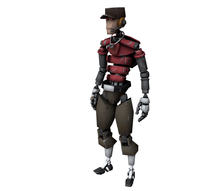 Pc Computer Team Fortress 2 Scout Robot The Models Resource