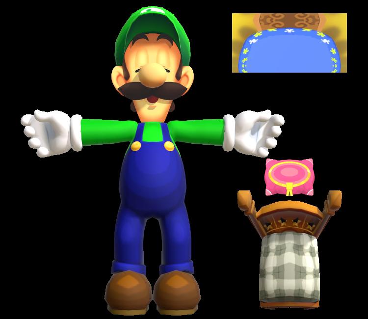 3ds Mario Luigi Dream Team Luigi Sleeping The Models Resource