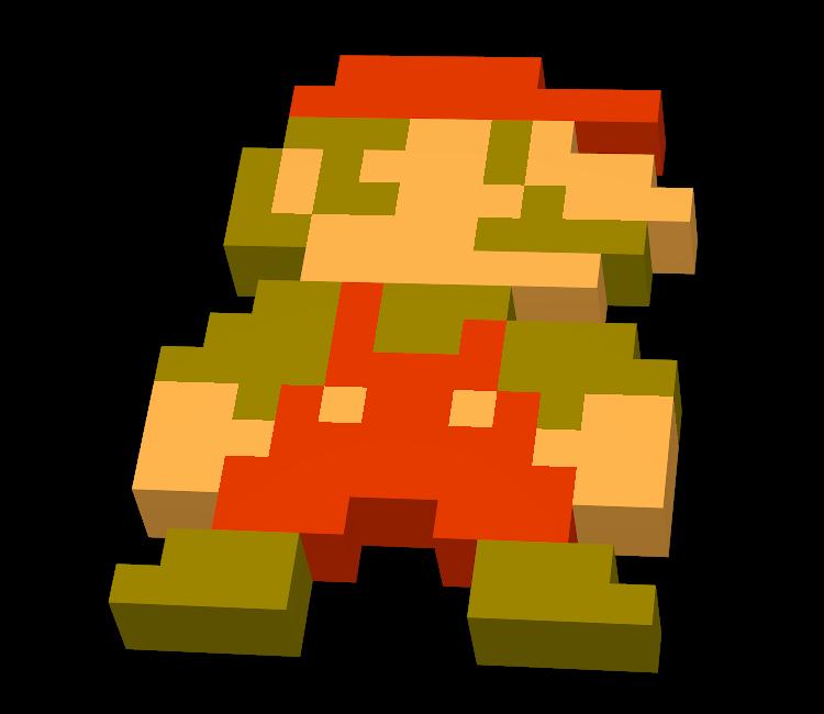 3DS - StreetPass Mii Plaza - Pixel Mario Hat - The Models