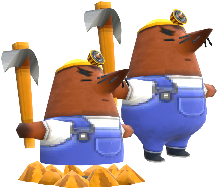 3DS - Animal Crossing: New Leaf - Mr  Resetti - The Models