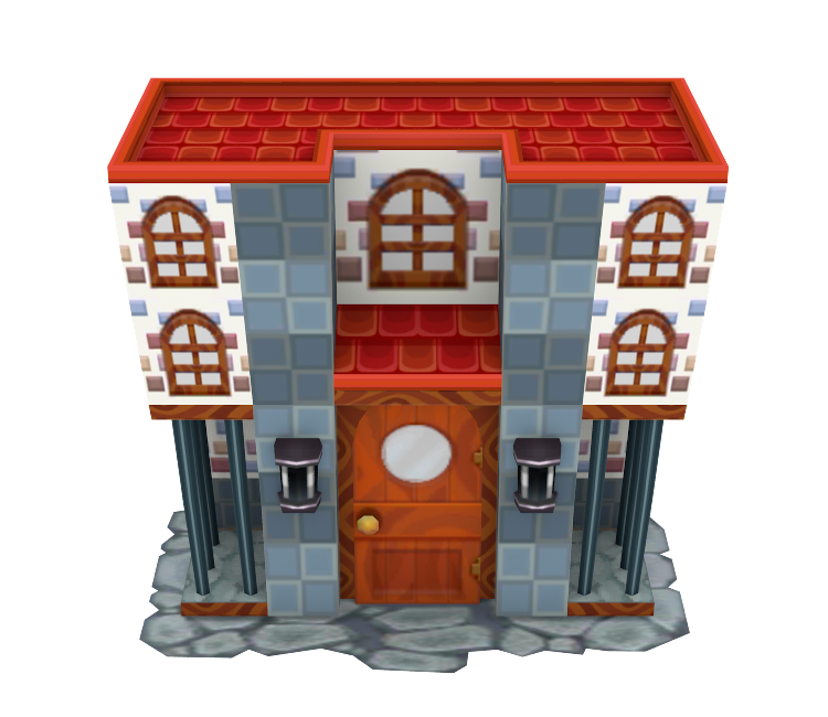 3DS Animal Crossing New Leaf Modern House The Models Resource