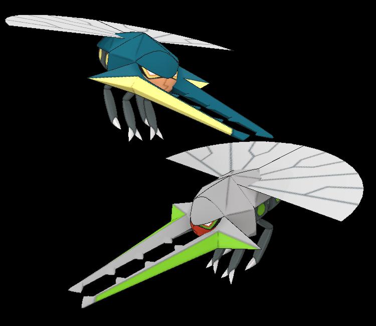 3DS - Pokémon Sun / Moon - #738 Vikavolt - The Models Resource