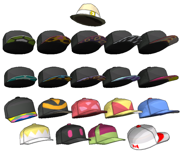 45619a927ba48 3DS - Pokémon Sun   Moon - Hats (Male) - The Models Resource