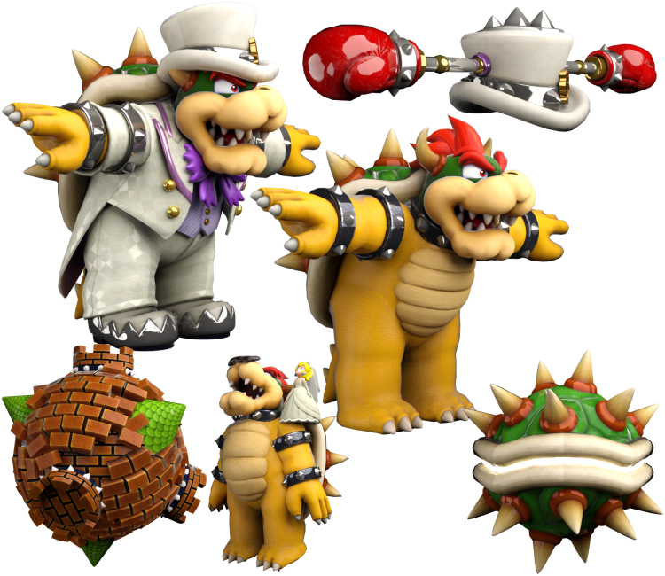 Nintendo Switch Super Mario Odyssey Bowser The Models