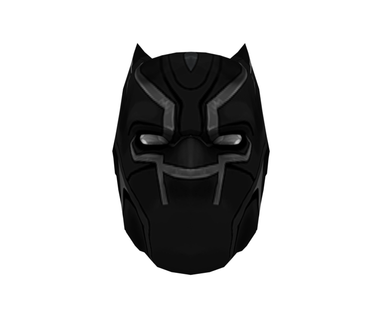 Pc Computer Roblox Black Panther Mask The Models Resource