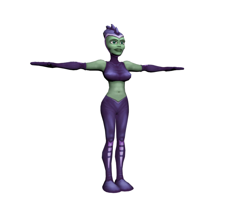 Playstation 2 Ratchet Clank Hoverboard Girl The Models Resource