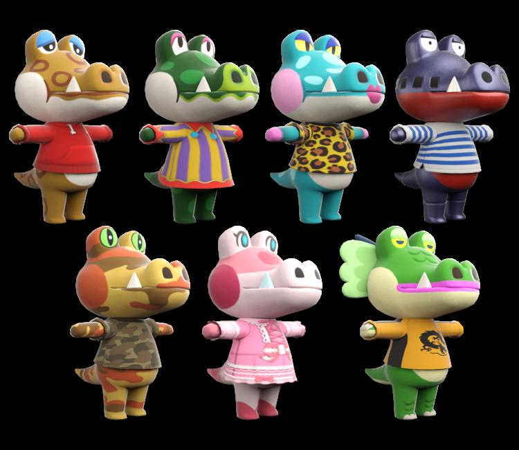 Nintendo Switch Animal Crossing New Horizons Alligators Crocodiles The Models Resource