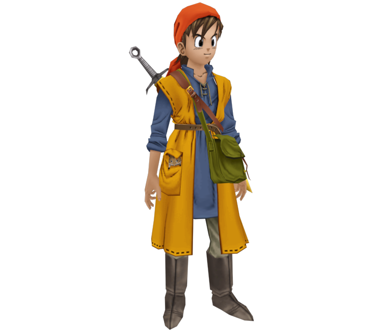 PlayStation 2 - Dragon Quest VIII - Hero - The Models Resource