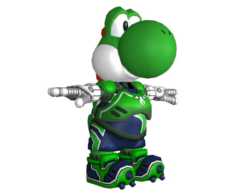 Wii Mario Strikers Charged Yoshi The Models Resource