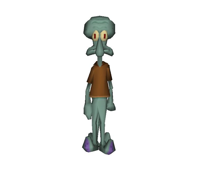 Psp Spongebob Squarepants The Yellow Avenger Squidward The Models Resource