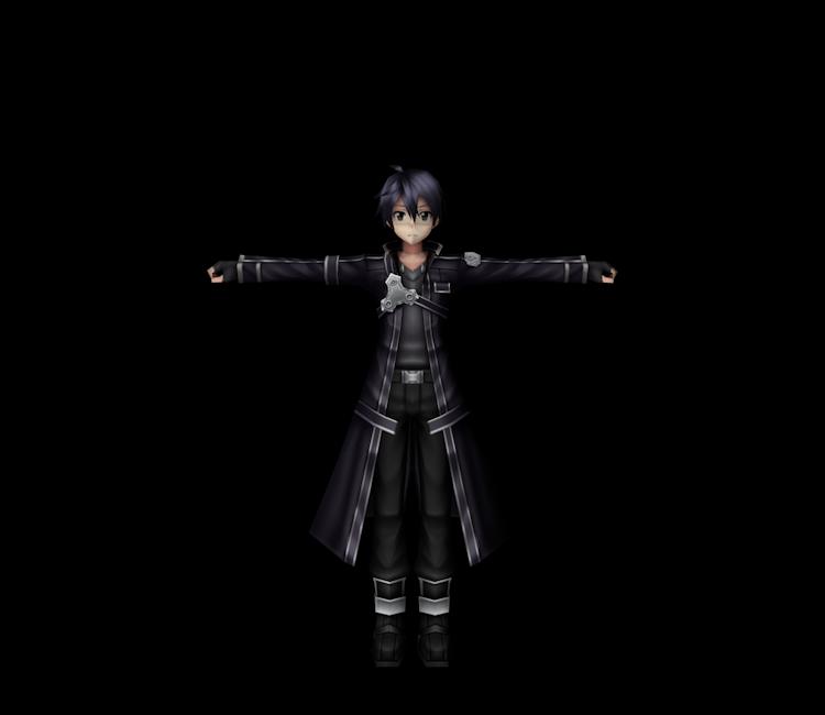Psp Sword Art Online Infinity Moment Kirito Blackwyrm Coat