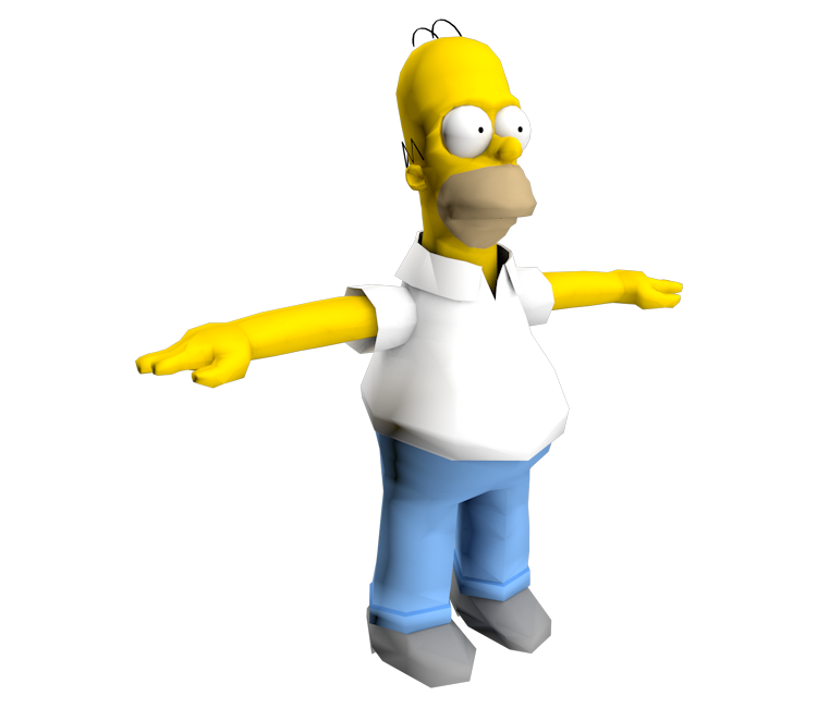 gamecube the simpsons road rage homer simpson the models resource. Black Bedroom Furniture Sets. Home Design Ideas