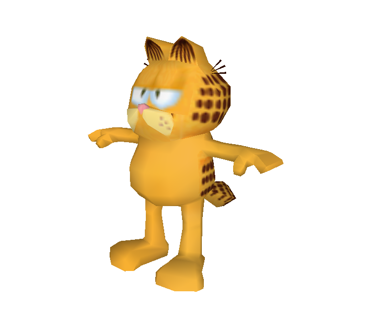 Ds Dsi Garfield Gets Real Garfield The Models Resource