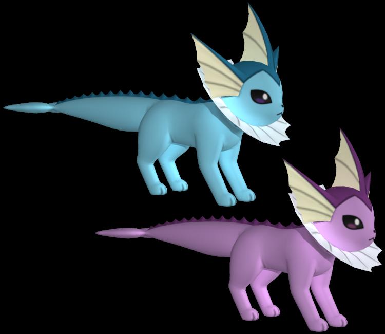 3DS - Pokémon X / Y - #134 Vaporeon - The Models Resource