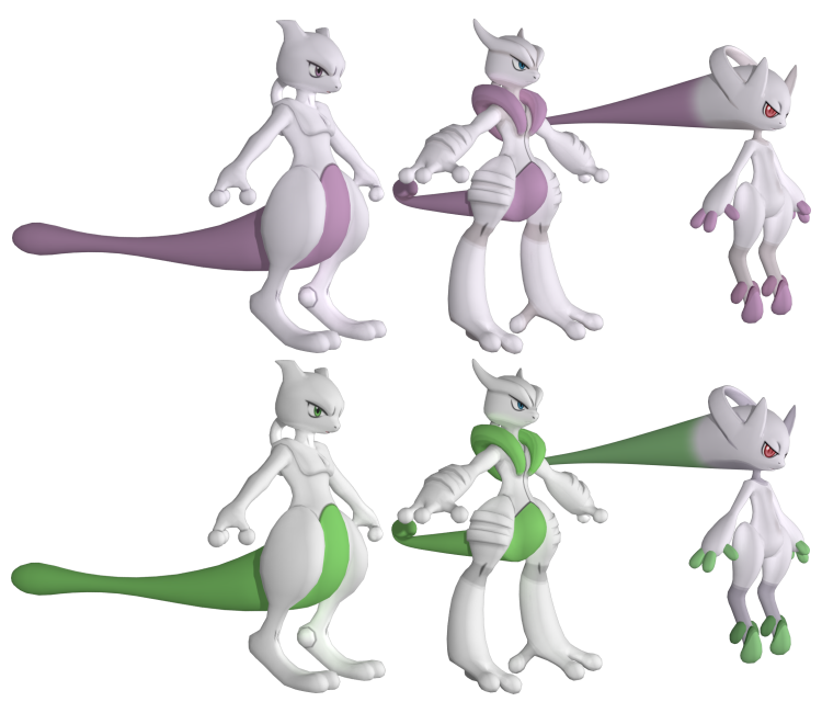 3ds Pokemon X Y 150 Mewtwo The Models Resource