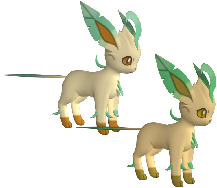 3ds pok mon x y 470 leafeon the models resource - Pokemon 3d download ...