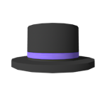 Purple Banded Top Hat