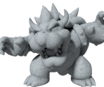 Stone Bowser Statue