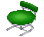 Round Green Chair