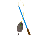 Hopping-Mouse Cat Wand