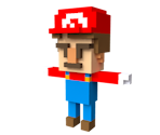 Mario (William Santacruz-inspired Voxel)
