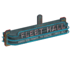 Fleet Hall Sign