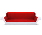 Long Red Sofa