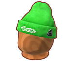 Green Knitted Splat Hat