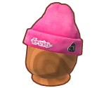 Pink Knitted Splat Hat