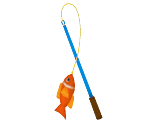 Jumping-Fish Cat Wand
