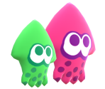 Green & Pink Squid