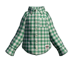 Green-Check Shirt