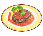 Mozzarella Salisbury Steak