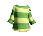 Lime Easy-Stripe Shirt
