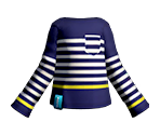 Navy Striped LS