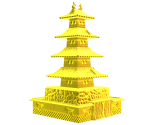 Golden Model Castle Set
