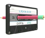 Cassette Tape with Pencil