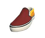 Red Slip-Ons