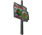 Beware Of Ogres Sign