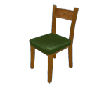 Chair (Green Wooden)